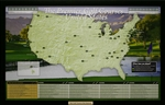 USA Golf Course Push Pin Map - Framed and Personalized