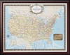 United States Traveler Push Pin Map - Framed and Personalized