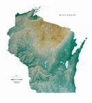 Raven Wall Map of Wisconsin