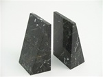 Black and White Marble Triangle Bookends