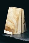 Triangle Tan Marble Bookends