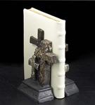 Burnished Silver Triple Cross Bookends