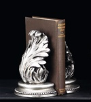 Silver Standing Leaf Bookends