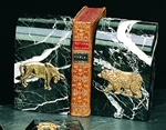 Black Marble Bull & Bear Bookends