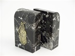 Black Marble Golf Bookends