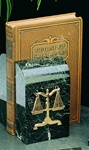 Black Marble Legal Bookends