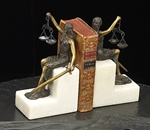 Seated Lady of Justice Bookends  Bookends