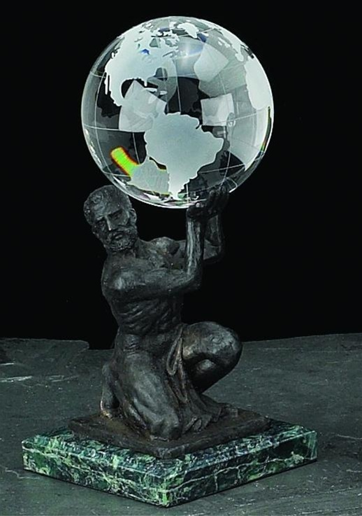 Atlas Holding Crystal Globe From Decorative Bookends Com Free Shipping