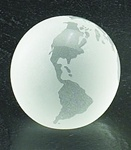 3 Inch Frosted Crystal Globe Paper Weight