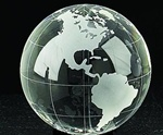 "4"" Lead Crystal Globe"