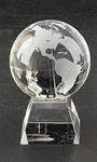 3 Inch Glass Globe on Glass Base