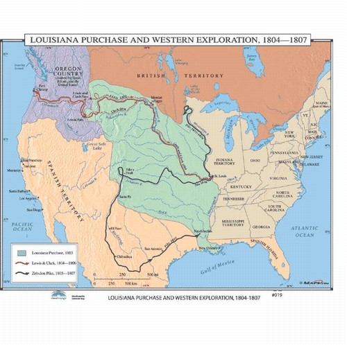 Map Of Louisiana Purchase Western Exploration 18041807 From