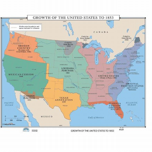 Map Of The Growth Of The US To From OnlyGlobescom - 1789 map of us