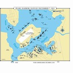 Map of Pearl Harbor, Hawaii: December 7, 1941