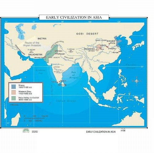 Early Civilizations Map Map of Early Civilization In Asia from OnlyGlobes.com Early Civilizations Map