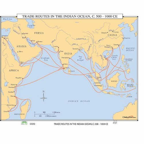 Trade Routes In The Indian Ocean, C. 500-1000CE Map on atlantic ocean, korean peninsula map, arabian sea, comoros map, bay of bengal, world map, pacific ocean, persian gulf, silk road, india map, caspian sea, south china sea, middle east map, equator map, christmas island, ukraine map, south america map, china map, africa map, bay of bengal map, cape of good hope map, caribbean sea, mediterranean sea, iran map, pacific map, arctic ocean, australia map, black sea, south asia, java map, latin america map, persian gulf map, arabian sea map, southern ocean, world ocean, asia map, red sea,