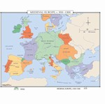 Map of Medieval Europe, C. 950-1300CE