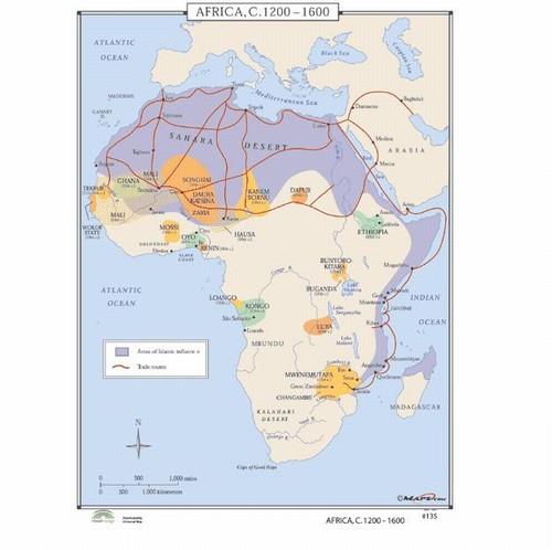 Map Of Africa 1600 | autobedrijfmaatje