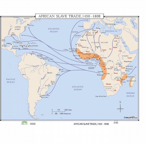 Map Of Africa During Slave Trade.African Slave Trade 1441 1808 Map