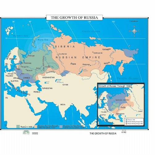 Map Of The Growth Of Russia From OnlyGlobescom - Us map 1796
