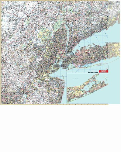 Map Of New York Tri State Area.New York Tri State Vicinity Wall Map