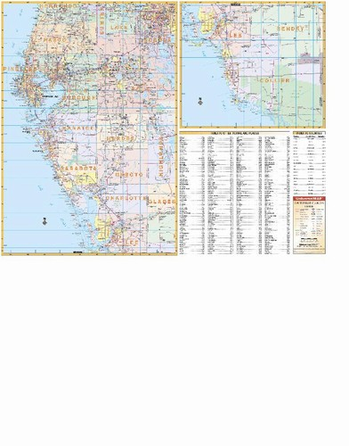Map Southwest Florida.Southwest Florida Wall Map From Onlyglobes Com