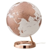 "Waypoint 12"" Diameter Light & Color Copper Globe - Illuminated"