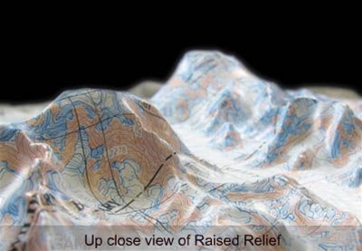 Raised Relief Maps of West Virginia from OnlyGlobes com