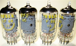 Brand New MINT NOS NOVEMBER-1970 Production ORIGINAL NOS TESLA EF86 tubes. From the old Czechoslovakia (currently Czech Republic). Tube internals seem to be sourced from RFT with evacuation in Tesla glass bottle.