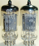 Matched Pairs - Like New Early 1960s BRIMAR 13D4 Industrial 12AU7 ECC82 CV4003 Long Plate tubes with LOW TEST SCORES, STC Production. Lightly used. Made in England. Real fine 12AU7 tubes, one of our favorites. Repacked in white boxes from bulk.