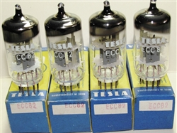 Brand New, MINT NOS NIB RFT* ECC82 12AU7 Single Support Halo Getter, Tesla Label. Made in E. Germany. RFT ECC82 tubes come in several construction styles. Recommended by many Tube Amp makers.