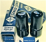 Brand Spanking NEW, MINT NOS NIB Senco RCA Lic Late 1940s 6V6GT Black Plate Black Glass tubes. Made in USA. These early 6V6GT types are rare.