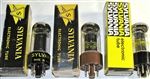 Brand Spanking NEW, Single Tubes MINT NOS NIB Sylvania 1960s-70s 6V6GTA and GTY Black Plate Clear Glass. Made in USA. Very desirable tubes.