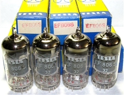 Brand New, Rare MINT NOS NIB 1977 Original TESLA EF806S, Premium Grade EF86 tubes. Rated for 10K hours. Made by Rožnov n.p. závod Vrchlabí. Produced in former Czechoslovakia (now Czech Republic).