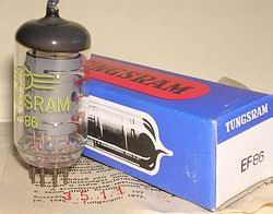 Rare 1972 Tungsram Industrial Grade EF86 Tubes, Brand New, MINT in Original Boxes. Each tube has individual serial number in RED and a factory certificate for that serial number (see picture). These tubes were made by RFT for Tungsram.