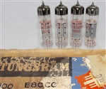 Brand New, MINT NOS Rare Sept-1974 production Tungsram E80CC Tubes. Made in Hungary. All tubes from the same date/batch. Non-corrosive alloy pins. Flashing pattern can vary between tubes. It is normal. Packed in generic white boxes from 100 piece bulk box