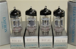 Brand New, MINT NOS NIB 1970s RFT ECC83 12AX7 - Halo Getter VEB Röhrenwerke Anna Seghers Neuhaus Production with Emtron Austrian Label. Made in E. Germany. These are in the top 2-3 desirable tube for great Guitar tone, and work fine in Audio gear.