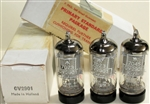 Brand New MINT NOS NIB 1969 MBLE Mazda Belgium Brussels Production CV2901 EF86 mesh shield tube with Mullard Label . Some of the most desirable EF86 tubes. MBLE was Philips Plant in Belgium. Etched date codes 8Y6 L9xx for MBLE Belgium Brussels plan