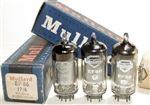 RARE Brand New MINT NOS 1958-59 Mullard EF86 Square Getter Mesh Shield tubes with Old Shield BVA logo. SAME REVISION. 9r1 B8x or B9x Blackburn Production Date Codes. Made in Great Britain. Tested and matched on Top of the Line Calibrated Hickok 580 Lab G