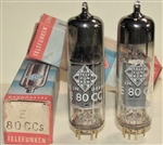 Brand Spanking New in Box, 1974 Amperex/Philips E80CC 6085 Gold Pin tubes with TELEFUNKEN Label and Box. SAME Heerlen Holland Production Date Codes VBA 44J4. 4xxx (4=delta or left triangle for Heerlen Plant). One of the most musical and desirable tubes.