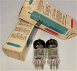 Brand new, MINT NOS NIB Early 1960s RFT ECC83 12AX7 VEB Röhrenwerke Anna Seghers Neuhaus Prod Tubes with FOIL Getter. Made in E. Germany. These are in the top 2-3 desirable tubes for Guitar tone, and also work fine in Audio gear. .
