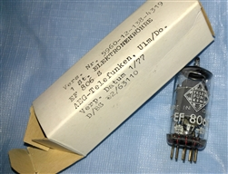 Brand New MINT NOS NIB Telefunken EF806S Bundeswehr Falcon Logo Diamond Bottom tubes. EF806S is the highest grade Telefunken EF86 type sought after by Neumann U67 Microphone users. All tubes with the Same Date/Batch code JAN-1977 ULM Plant West Germany.