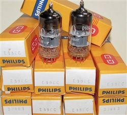 Brand Spanking New in Box, Late 1970s Heerlen* Holland Production PHILIPS SQ E88CC 6922 Gold Pins. Heerlen Plant date codes 7LH 49xx. These select Special Quality SQ Holland made E88CC/6922 are some of the finest by Amperex/Philips.