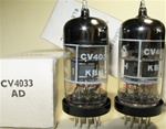 Brand New MINT NOS NIB Rare Mid-Late 1960s BRIMAR CV4033 Black Plate Military tubes. CV4033 Flying Lead is Premium Grade, High Reliability Long Life version of CV4024/6060/ECC81/12T7 valves. STC Rochester Plant Date Codes. Made in England.