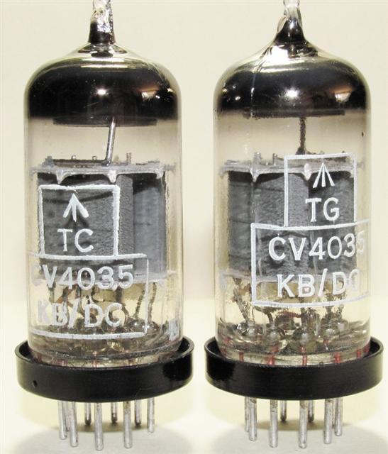 1960/'S MATCHED PAIR MULLARD CV4004 BOX PLATE TUBES E83CC PREMIUM 12AX7 NOS NIB