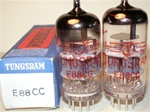 Tungsram - Single Tubes MINT NOS 1960s-1970s Rare E88CC Industrial Grade with Red Printed or White Etched Serial No. - Hungary