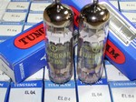 Brand New, MINT NOS NIB 1980-81 Tungsram EL84 tubes, Made in Hungary. All matched pairs have identical date of 8Z=Jan 1980 or 76=October 1981. Tungsram EL84's are hard to find in this condition. Tungsram made some of the finer tubes in Eastern Europe.