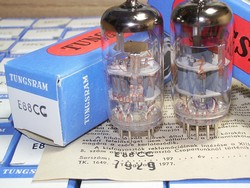 Matched Pairs Rare JULY-1979 production Tungsram Industrial Grade E88CC 6922 Tubes, Brand New, MINT in Original Boxes. Each tube has serial number in RED and a factory certificate for that serial number (see pictures). All tubes from the SAME DATE/BATCH.