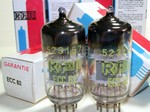 Brand New, MINT NOS NIB RFT  ECC82 12AU7 Single Support Halo Getter Tubes. Made in E. Germany.