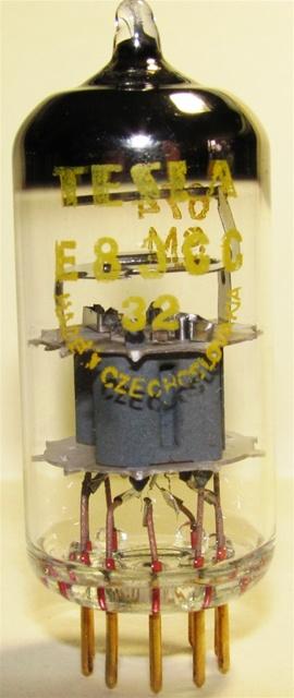 Tesla E83CC NOS (NOT JJ) - Single Tube MINT NOS JULY-1969 Gold Pin Frame  Grid Premium ECC83 12AX7 - Replica of TFKN